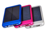 Heißer verkaufender Solararbeitsweg Powerbank 5000mAh mit Plastik-Batterie