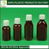 Medizin-Sirup-Flasche des Haustier-150ml bernsteinfarbige