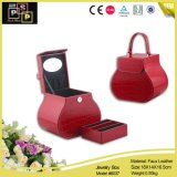 Alibaba China Lieferanten-kleines rotes Leder deckte Pappschmucksache-Kasten ab