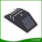 Éclairage solaire de grille de mur de la lampe 2LED de la lumière extérieure DEL de jardin avec le détecteur de mouvement de PIR pour la voie