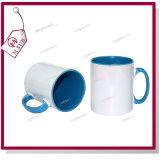 Taza de café de cerámica del color interno de la sublimación 11oz para la promoción