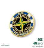 Distintivo su ordinazione di Pin del randello di rugby con il vostro proprio marchio