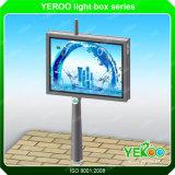 Doppelte Seite LED, die Bildschirm-im Freienanschlagtafel-Zelle bekanntmacht
