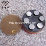 Этап круглого диаманта скрепления металла CD-44 меля с велкроим
