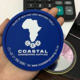 Onderlegger voor glazen van pvc van de douane de Zachte met Embleem Embrossed voor het Gebruik van de Bevordering