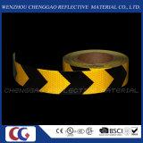 Schwarzer und gelber Belüftung-reflektierender Aufkleber Rolls mit Pfeil (C3500-AW)