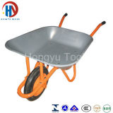 Wheelbarrows chapeados zinco da bandeja do metal 65L