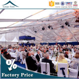 People Ideal Outdoor Large Clear PVC 500 oder 1000 Fabric Covered Marquee Transparent Tent für All Events und Occasions