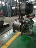 Valvola a sfera pneumatica di Truunion A105 con l'elettrovalvola a solenoide, il contenitore di interruttore di limite ed il filtro dell'aria