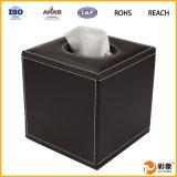 Caja de cuero de encargo del tejido de la alta calidad