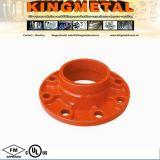 Adaptateur orange de bride d'ajustage de précision de pipe de fer de moulage de Victaulic Insteaded