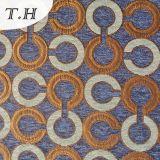 2017 sofa à haute teneur circulaire de tissu de jacquard de Chenille de trois couleurs