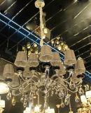 Iluminación cristalina casera europea de la decoración de Phine con la lámpara pendiente de la cortina de la tela