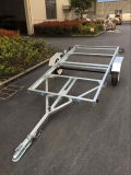 Dipped caldo Galvanized 4X8 Folding Utility Trailer