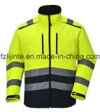 Alto Workwear riflettente di Softshell del rivestimento di sicurezza di visibilità