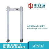 Detectores de metales portables de la seguridad al aire libre de la visualización de la pantalla táctil