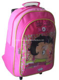 Rolling Student Papéis de carta Back to School Trolley Backpack Bag