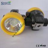3000mAh 폭발성 재충전용 LED 광업 헤드 램프