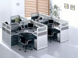 Nouveau Commercial Office Wooden Workstation Desk pour 4 People (SZ-WS309)
