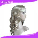 Les perruques synthétiques de femmes court- les perruques blondes avec les perruques bon marché Qualtiy élevé de type de pleines de coups perruques normales ondulées de cheveu