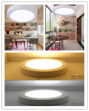 la iluminación del panel redonda ligera de 30W LED con 3 años de la garantía de lámpara CRI>85 del techo muere el marco SMD LED de la fundición de aluminio