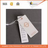 Os Tag feitos sob encomenda da etiqueta de pano do vestuário imprimiram o Tag do cair da impressão da etiqueta