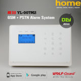 Сигнал тревоги безопасности взломщика домашней обеспеченностью GSM+PSTN Cid беспроволочный