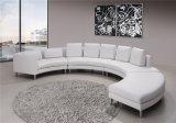 Sofá moderno de cuero de la esquina blanco