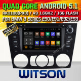 Carro DVD GPS do Android 5.1 de Witson para BMW 3 séries E90/E91/E92/E93 2005-2012 com sustentação do Internet DVR da ROM WiFi 3G do chipset 1080P 16g (A5733)