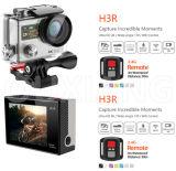 A câmera cheia impermeável da ação de WiFi do esporte da tela dupla HD 1080P/60fps 4k com de controle remoto Waterproof 30m