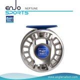 Carretel de alumínio seleto da mosca do equipamento de pesca do CNC do pescador (NETUNO 5-6)