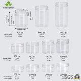 150ml löschen Breit-Mund Zylinder-Haustier-Glas für das Verpacken der Lebensmittel