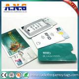 Anti capacidades RFID esperto do roubo que obstruem o protetor da luva do cartão personalizado
