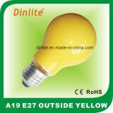 Luz A19 amarela exterior Incandescent