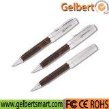 Mecanismo impulsor de madera del flash del USB de la pluma de la alta calidad con el rectángulo de regalo
