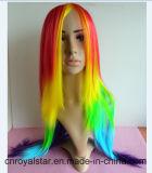 Heiß, meine wenig Pony-Farbe lockige lange Cosplay Haar-Perücke verkaufend