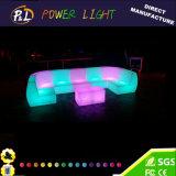 Cadeira plástica iluminada do sofá da barra da mobília do diodo emissor de luz