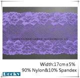 Garniture en nylon de lacet de Spandex pour Madame Underpant et la largeur 17cm de soutien-gorge
