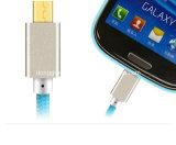 빠른 금속에 의하여 땋아지는 비용을 부과 USB 데이터 케이블