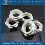 Écrou de blocage en nylon de garniture intérieure d'hexa galvanisé blanc de la classe 8.8