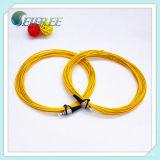 G657A2 cable óptico de la corrección de fibra de la coleta del solo modo FC