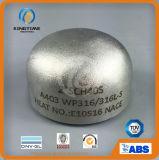 Acero inoxidable 304 / 304L Ss Butt Cap de soldadura de tubo roscado (KT0323)