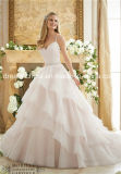 Mori Lee Morilee cetim Querida Tulle cintas de espaguete vestido de casamento (Dream-100044)