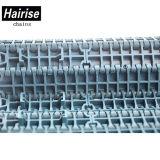 Courroie modulaire de premier convoyeur affleurant antidérapage en caoutchouc de réseau (Har1000)