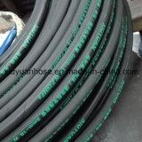 mangueira de borracha hidráulica flexível do petróleo 602-1b de alta pressão espiral