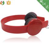 製造業者の方法様式によってワイヤーで縛られるステレオのヘッドセットの卸売の赤のヘッドホーン