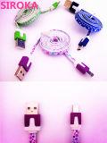 Cabo cobrando do USB do micro colorido para Samsung, HTC, Sony, etc.