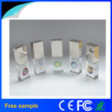 De vrije Aandrijving van de Flits van het Kristal USB van het Embleem van de Gravure van de Douane van de Steekproef 8GB