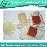 Pegamento caliente del derretimiento de la alta calidad para las materias primas del pañal adulto