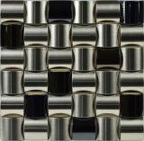 中国のモザイク工場(FYMF8018)からの装飾的なSiverのステンレス鋼のタイルのモザイク